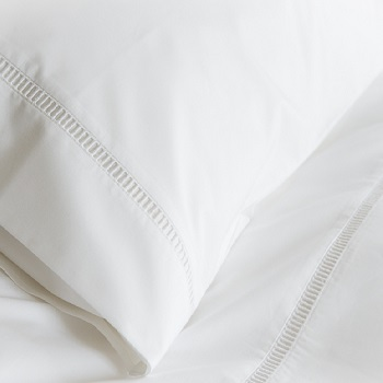 ladder stitch organic duvet cover