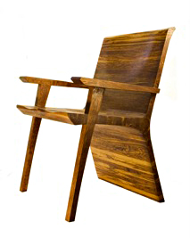 Brown Oak Arm Chair