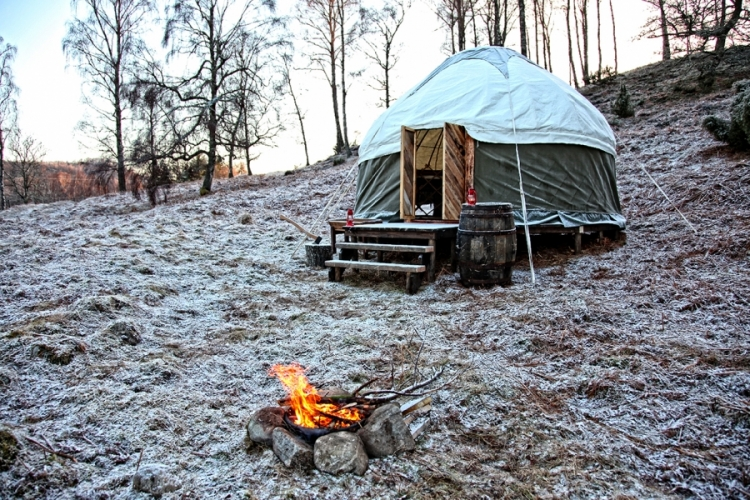 Yurt, Bothy & Firetruck in the Scottish Highlands